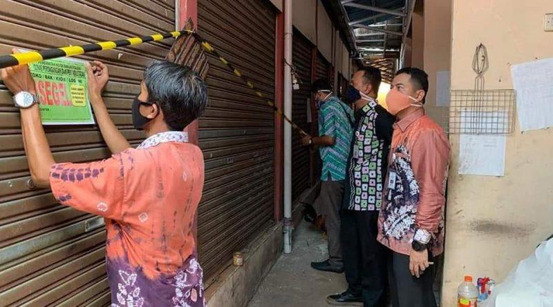 Banjarmasin Disperdagin Kota Pasar Gedang disegel
